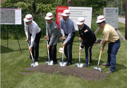 Groundbreaking Ceremony for Pipe Lining Project